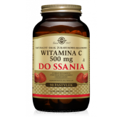 Witamina C 500 mg do ssania żurawin-malin. Solgar